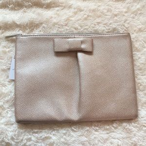 Nordstrom Textured Rose Gold Makeup Bag NWT!